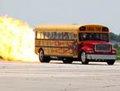 高清:美牛人造喷气式校车 最高时速600公里