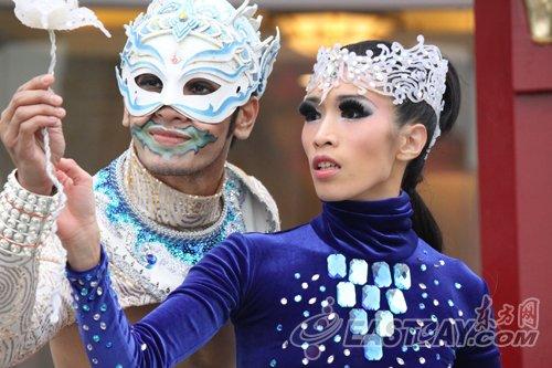 泰国舞蹈点缀世博 热力四射献演大洋洲广场