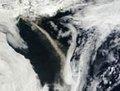 高清:NASA卫星拍摄冰岛火山喷发火山灰