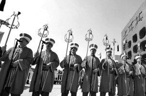 土耳其最古老72人禁卫军军乐队献艺世博园