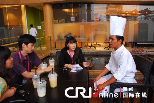 印尼馆员工盛赞世博:要让印尼美食走进中国