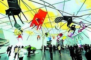 意大利馆:顶级奢侈品的盛会 头顶上开音乐会
