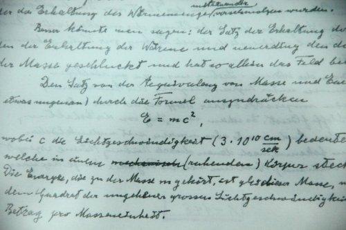 爱因斯坦手稿凝聚伟大智慧 科学风景不容错过