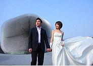 蒲公英为婚礼开放