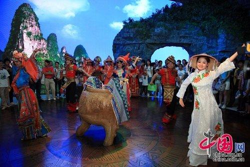 广西馆累计接待游客240万人 民族歌舞成亮点
