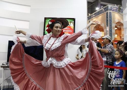 哥伦比亚传统酷比亚舞蹈表演