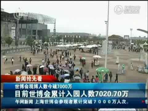 视频:世博最后非指定日 累计客流突破七千万