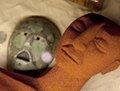 高清:墨西哥展出一批新出土的古玛雅面具