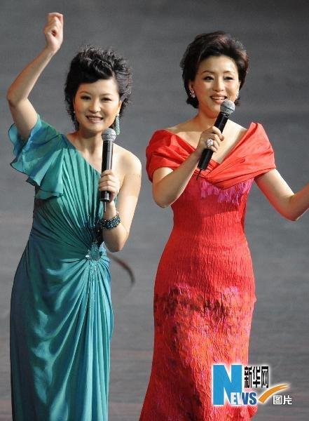 杨澜、陈蓉主持世博开幕式前的文艺演出(图)