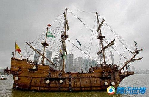 三桅帆船设计图