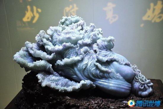 江苏馆展品世博后将拍卖 玉雕大白菜不乏买家