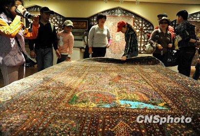 伊朗馆主打波斯地毯 古董地毯价值超700万元