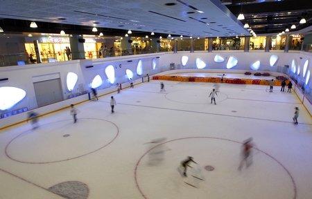 """文化中心为游客送""""清凉"""" 开放真冰溜冰场"""