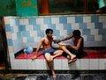 高清:战乱频仍 阿富汗老百姓的公共浴室