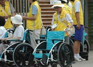 少数游客装残疾借轮椅