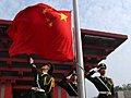 中国馆举行升旗仪式