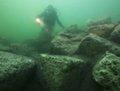 组图:海底发现埃及艳后宫殿 地震致古迹沉没