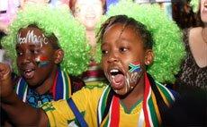 球迷和球星齐聚南非馆
