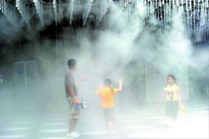 企业馆打造清凉意 万科馆自然风抽出室内空气