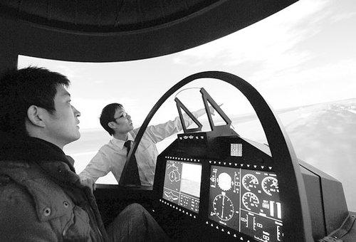 航空馆体验模拟飞行 数款新概念飞机集体亮相