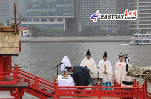 日本遣唐使船停靠十六铺 续写中日友好(图)