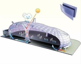 紫蚕岛日本馆:像人体一样会呼吸的环保建筑
