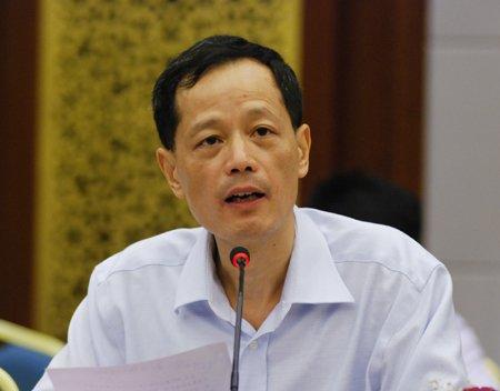 上海市知识产权联席会议秘书长吕国强汇报上海世博会知识产权工作