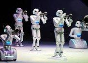 爱知世博会上的机器人表演