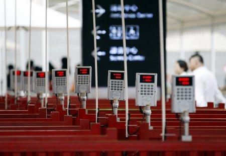 中国馆电子预约券验票机到位 8月上旬将使用