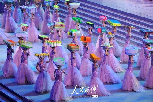 图文:上海世博闭幕式 表演《流动的世博园》