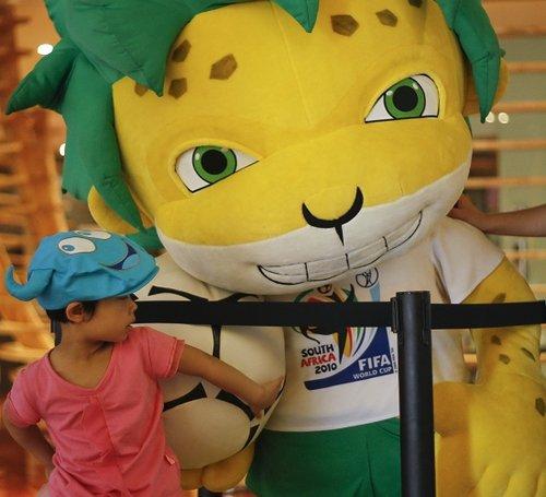 南非世界杯吉祥物将留沪 南非馆游客超350万
