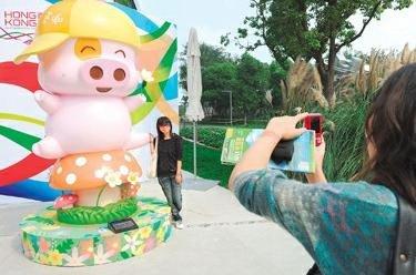 香港周开幕典礼昨上演 扭蛋机助游客交换梦想