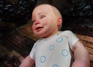 西班牙馆机器娃娃小米宝宝能哭会笑