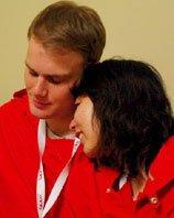 挪威馆情侣解说员的浪漫之情