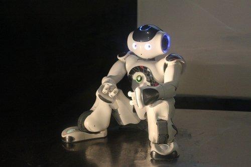 """恋上法国馆机器人""""脑"""""""