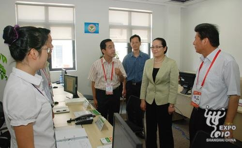 上海市副市长园区慰问知识产权保护工作人员