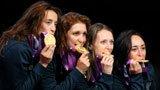 伦敦奥运第90金 女子花剑团体意大利队
