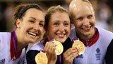 伦敦奥运第126金 自行车女团追逐赛英国队