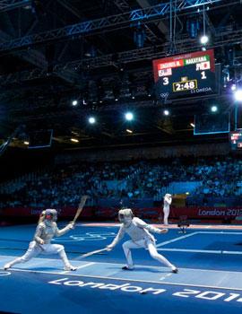奥运击剑比赛360全景图
