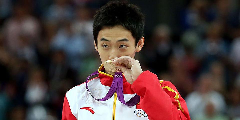 男子自由体操邹凯成功卫冕
