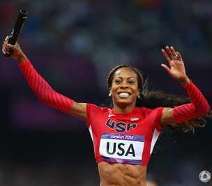 女子4x400美国队夺得金牌