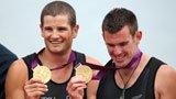 伦敦奥运第74金 男子赛艇双人双桨新西兰队