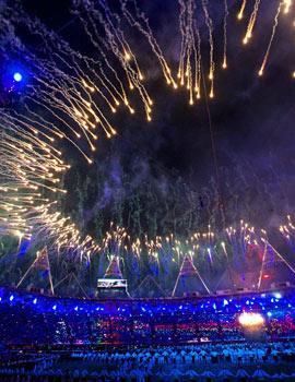 奥运开幕式烟火360全景