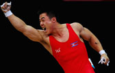 举重男子62公斤级挺举 金恩国第3举174公斤破纪录