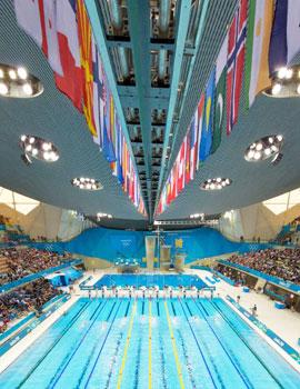 奥运游泳比赛360全景图