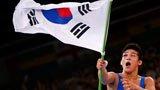 伦敦奥运第193、194块金牌 男子古典式摔跤 韩国、伊朗