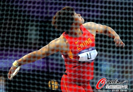 女子铁饼李艳凤摘铜创历史 中国铁饼首枚奖牌