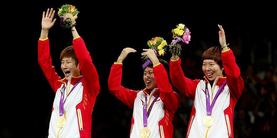乒乓球女团夺冠