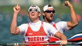 伦敦奥运第259金 男子双人皮艇200米 俄罗斯队