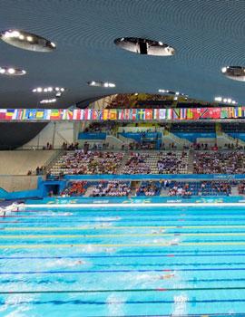 奥运游泳比赛360全景图(2)